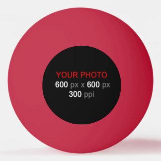 Créez votre propre boule de ping-pong rouge balle tennis de table
