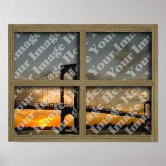 Créez votre propre châssis de fenêtre brun clair posters