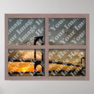 Créez votre propre châssis de fenêtre en bois posters