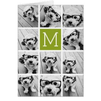 Créez votre propre chaux de collage de photo carte de vœux