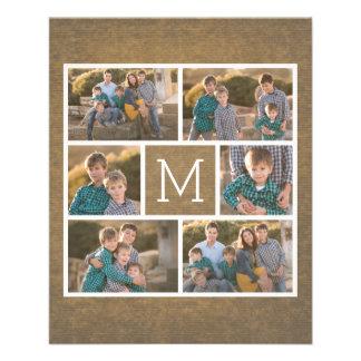 Créez votre propre collage de photo - monogramme prospectus 11,4 cm x 14,2 cm