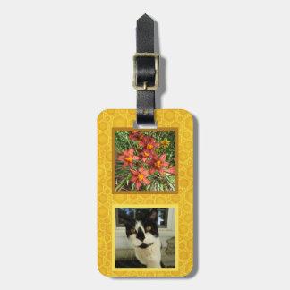 Créez votre propre miel carré de photo de 2 étiquette à bagage