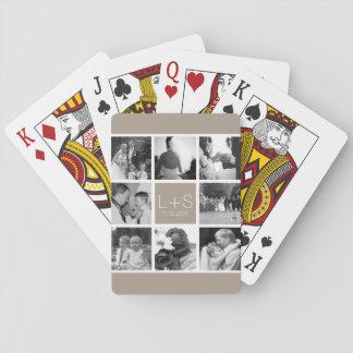 Créez votre propre monogramme de collage de photo jeux de cartes