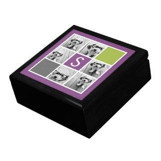 Créez votre propre monogramme de coutume de grande boîte à bijoux carrée