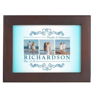 Créez votre propre monogramme de mariage de plage boîtes à souvenirs