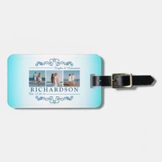 Créez votre propre monogramme de mariage de plage étiquettes bagages