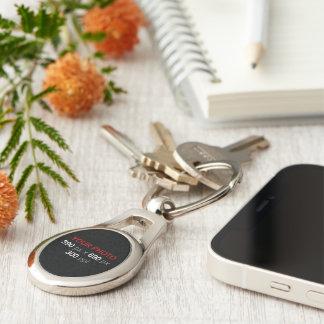 Créez votre propre ovale fait sur commande de porte-clé ovale argenté