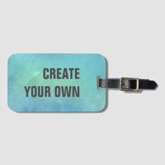 Créez votre propre peinture d'aquarelle de étiquette à bagage