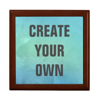 Créez votre propre peinture d'aquarelle de grande boîte à bijoux carrée