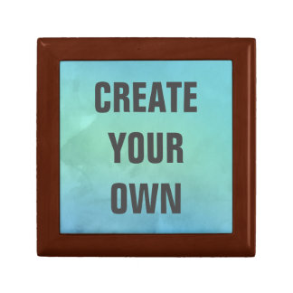 Créez votre propre peinture d'aquarelle de petite boîte à bijoux carrée