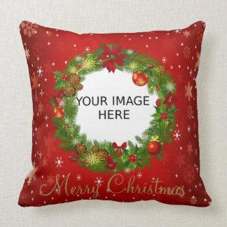 Créez votre propre photo personnalisée de Noël Coussin