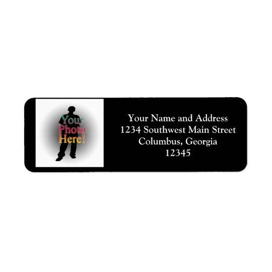 Créez votre propre photo personnalisée par coutume étiquettes d'adresse retour