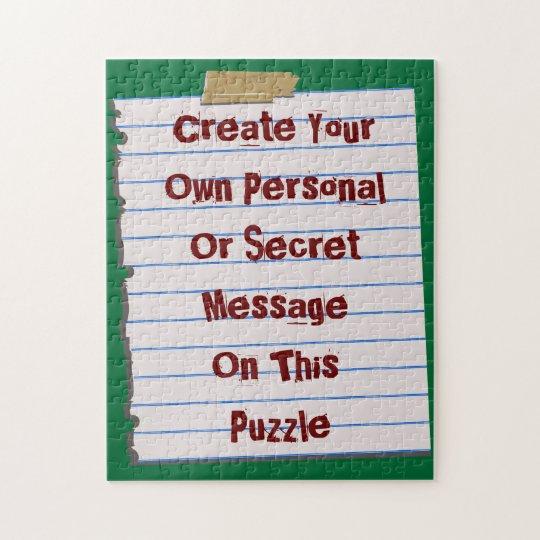 Créez votre propre puzzle de message