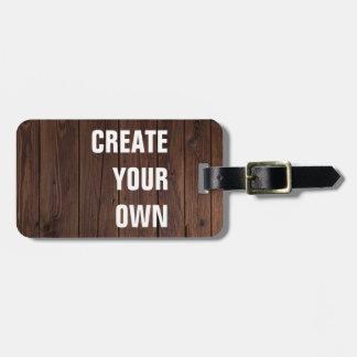 Créez votre propre regard en bois de plancher étiquette à bagage