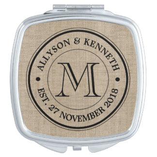 Créez votre propre rétro monogramme de logo de miroir de poche