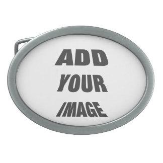 Créez votre propre Temp ovale personnalisé de bouc Boucles De Ceinture Ovales