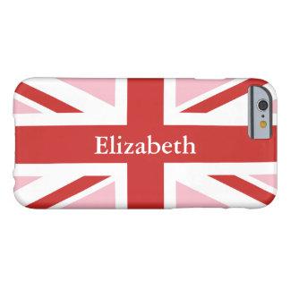Créez votre propre Union Jack rouge personnalisé Coque Barely There iPhone 6