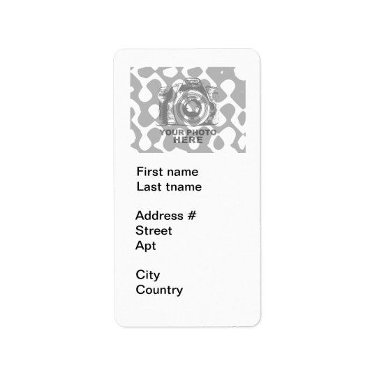 Créez votre propre verticale blanche d'étiquette étiquettes d'adresse