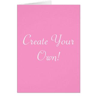 Créez votre propres rose et blanc carte de vœux