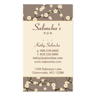 Crème de fleurs de cerisier de spa de carte de vis modèle de carte de visite