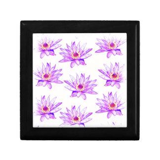 crème de fleurs de lotus noire d'encre boîte à souvenirs