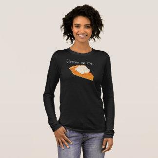 Crème de tarte de citrouille sur le T-shirt