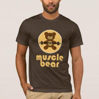 Crème d'ours de nounours d'ours de muscle t-shirt