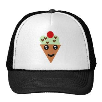 Crème glacée en bon état mignonne de puce de choco casquette trucker