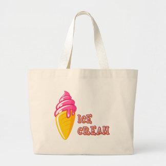 Crème glacée grand tote bag
