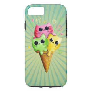 Crème glacée mignonne de chat de Kitty Coque iPhone 7