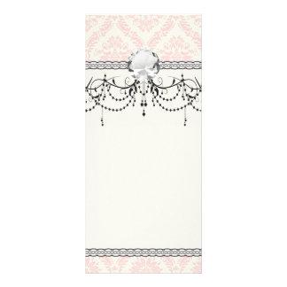 crème légère et damassé rose cartes doubles