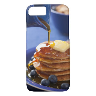 Crêpes avec le sirop et la myrtille coque iPhone 7