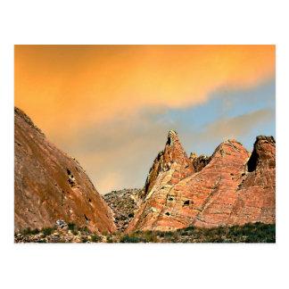 Crépuscule à la vallée du parc d'état du feu, cart carte postale