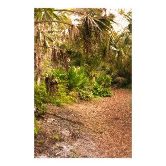 Crépuscule dans l'hamac de bois dur de la Floride Motifs Pour Papier À Lettre