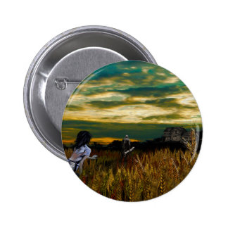 Crépuscule de champ de blé badges