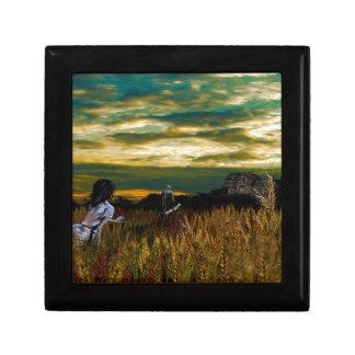 Crépuscule de champ de blé boîte à souvenirs