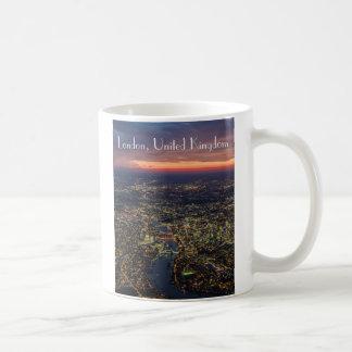 Crépuscule de Londres photographie aérienne tasse