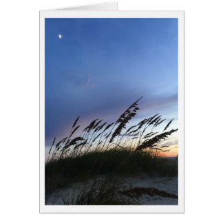 Crépuscule sur la plage cartes