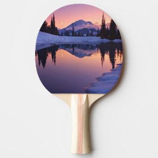 Crépuscule, Tarn et croissant de lune Raquette Tennis De Table