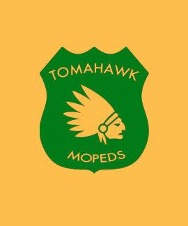 Crête américaine de Tomahawk - d'or T-shirts