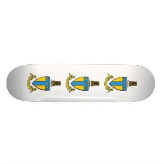 Crête de couleur de Tau Omega d'alpha Plateaux De Skateboards Customisés