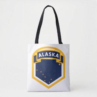 Crête de drapeau d'état de l'Alaska AK Sac