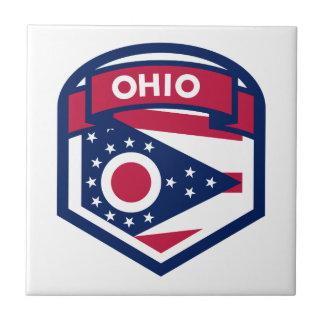 Crête de drapeau d'état de l'Ohio formée Petit Carreau Carré