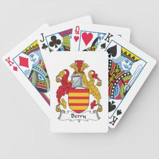 Crête de famille de baie jeu de cartes