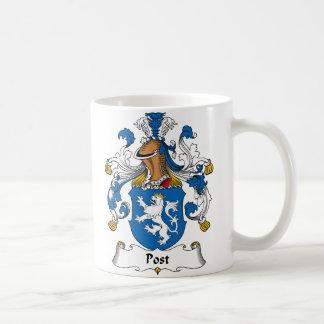 Crête de famille de courrier mug