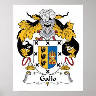 Crête de famille de Gallo Poster
