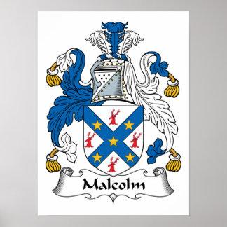 Crête de famille de Malcolm Posters