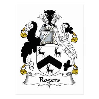 Crête de famille de Rogers Carte Postale