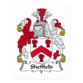 Crête de famille de Sheffield Cartes Postales