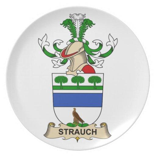 Crête de famille de Strauch Assiette Pour Soirée
